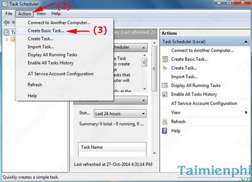windows task scheduler thiet lap ung dung tu dong chay 2