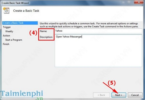 windows task scheduler thiet lap ung dung tu dong chay 3